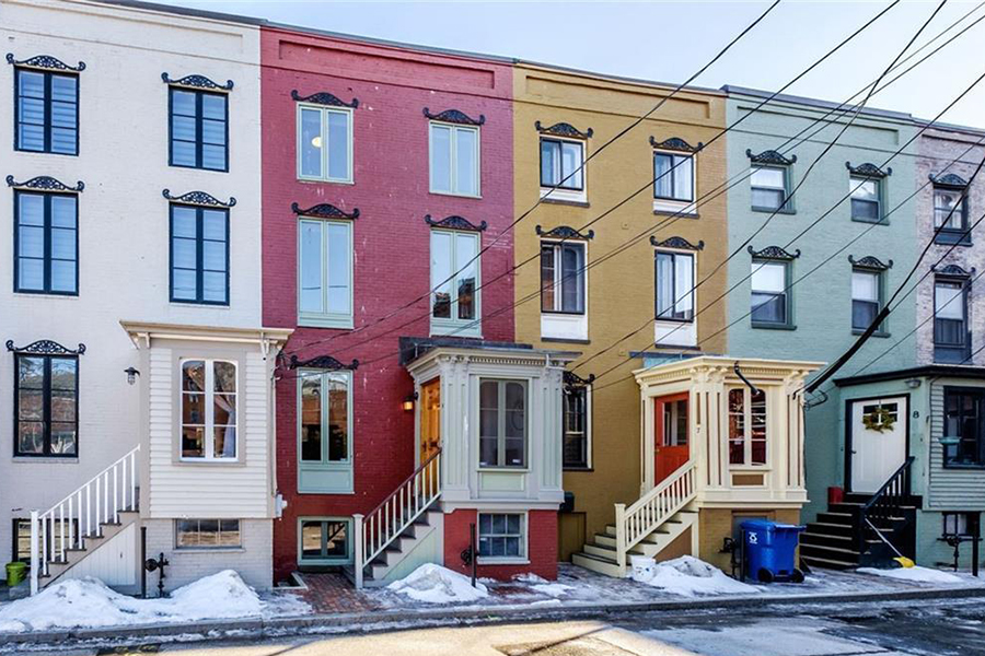 Awesome On The Market: A Red Rowhouse In Portland