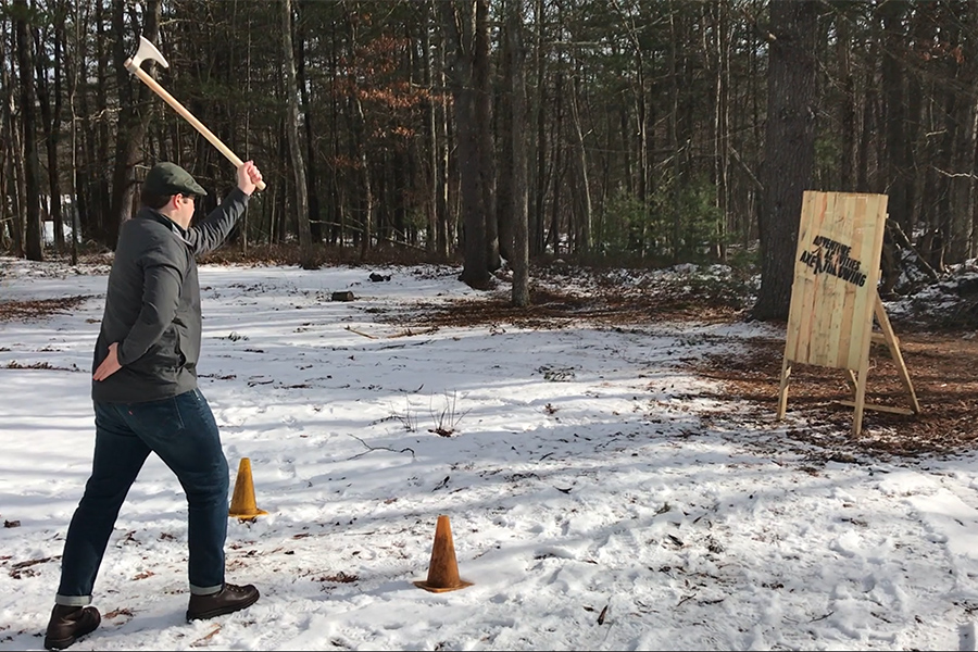 Adventure Activities has a fixed ax-throwing location at Everwood Day Camp in Sharon. It brings the fun to Castle Island brewery this month.