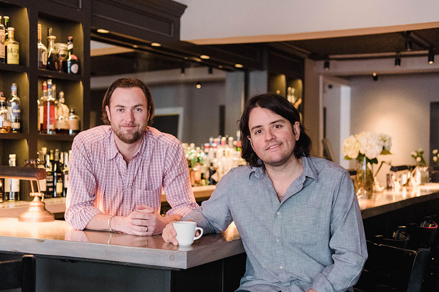 (L to R) James Woodhouse and RJ Joyce just took over Rye, N.H.'s iconic Carriage House restaurant.