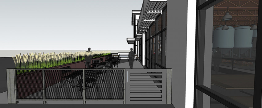 The plans for Mighty Squirrel's new Waltham taproom include two outdoor patios