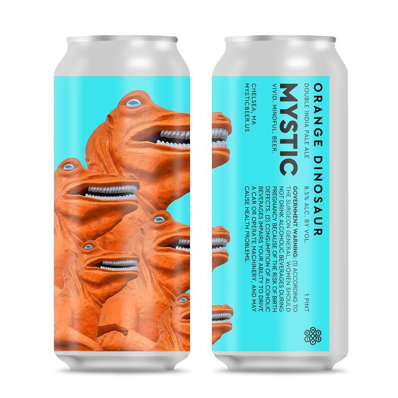 Mystic Brewery's Orange Dinosaur double IPA