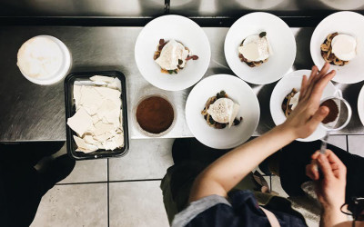 Scenes from the kitchen at a recent Nightshade pop-up at Soall Bistro