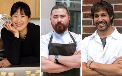 (L to R) Joanne Chang, Benjamin Steigers, Ken Oringer
