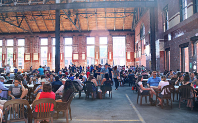 The SoWa Power Station beer garden in 2016.