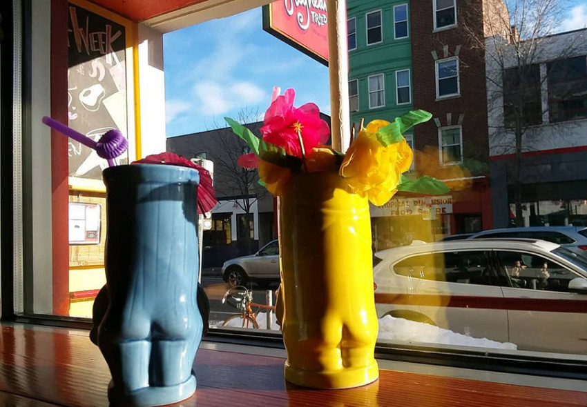 Tiki drinks at Highland Fried & Tiki