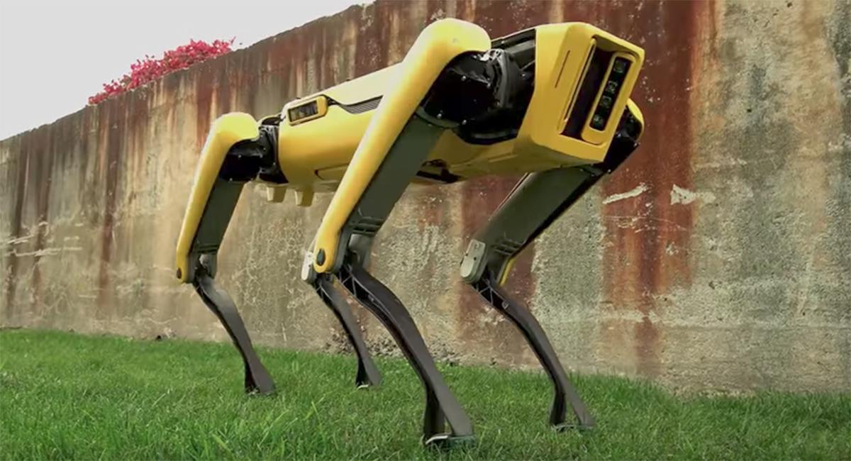 Jeff Bezos Walked With A Boston Dynamics Spotmini Robot