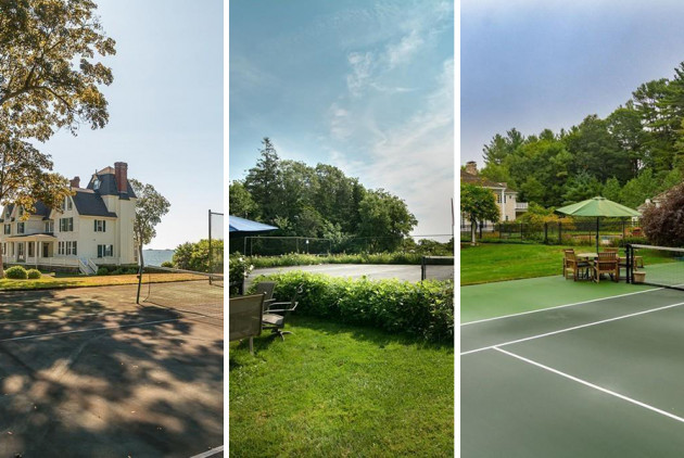Five Mansions for Sale with Tennis Courts