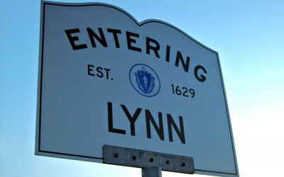 "An ""entering Lynn"" sign"