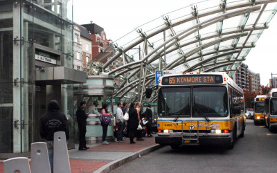 The route 65 bus at Kenmore state
