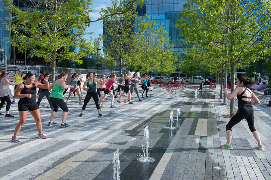 Yoga at Seaport Sweat