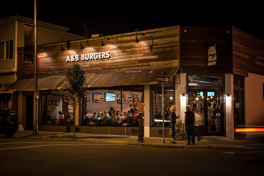 A&B Burgers in Beverly. The restaurant will coincidentally expand into the Beverly Boston this fall