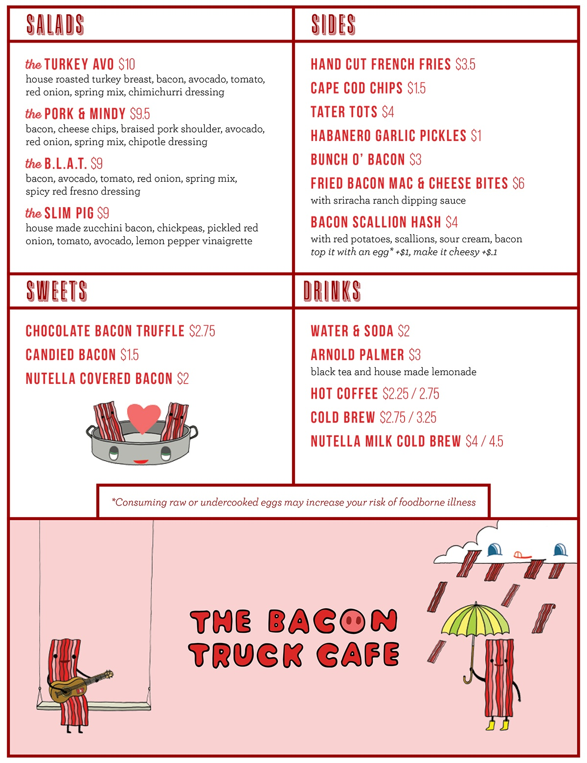 Bacon Truck Cafe menu page 2
