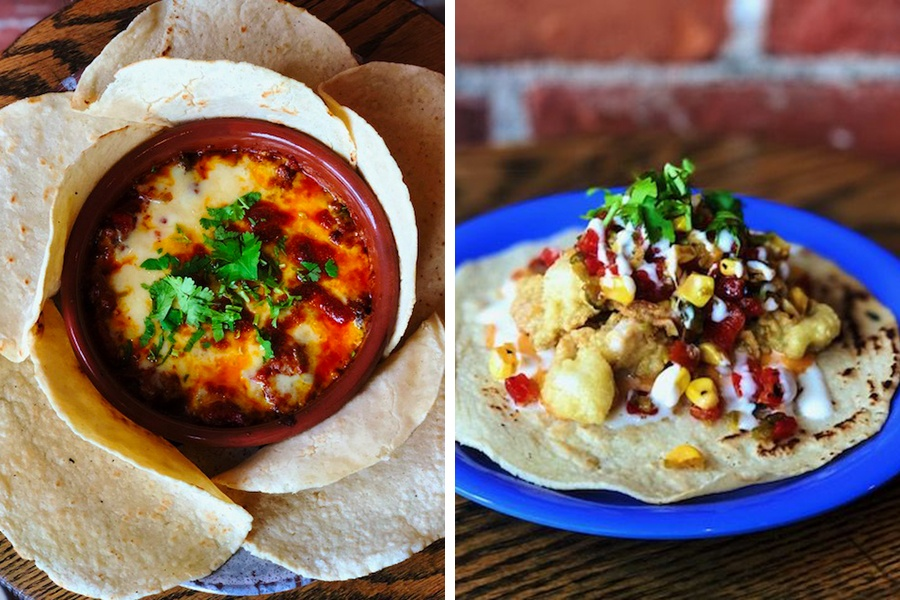 Queso fundido and fried clam taco are among chef Owen Royce-Nagel's new menu items at Casa Verde
