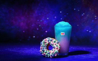 "Dunkin' Donuts introduces a new ""cosmic"" doughnut and Coolatta flavors for the summer"