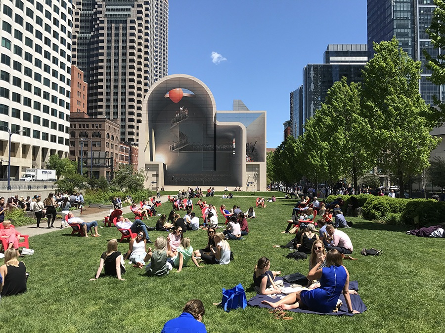 Dewey Square Park on the Greenway will have an open-air bar from Downeast Cider this season