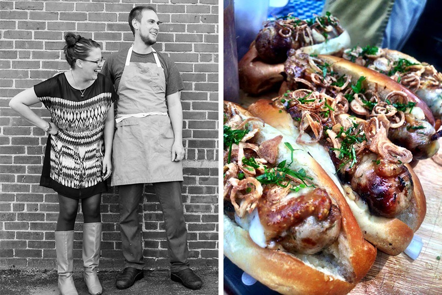 Lizzie Szczepaniak and chef Owen Royce-Nagel of JP Beer Garden are brining brats and more to Turtle Swamp Brewery this Sunday