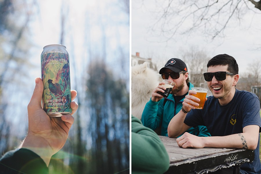 Photos from Lamplighter Brewing Co.'s outdoor beer garden in 2017, near its Broadway brewery.
