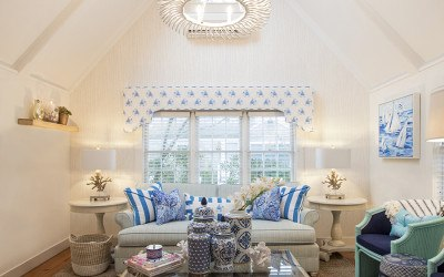 Lilly Pulitzer Cottage living room
