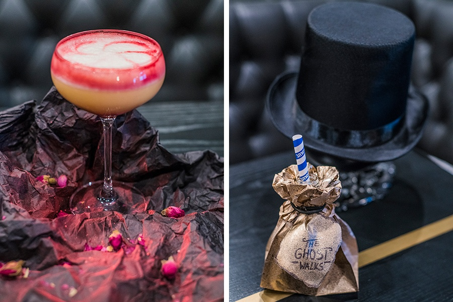 Beet It, and Hobo Experience cocktails at the Ghost Walks in Boston