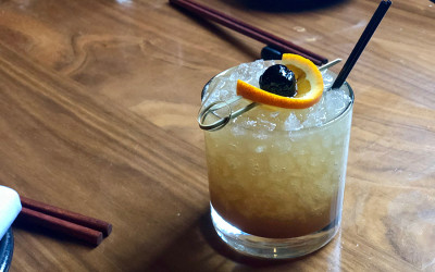 """""""Fog Over Osaka"""" from the new tiki cocktail menu at Uni"""