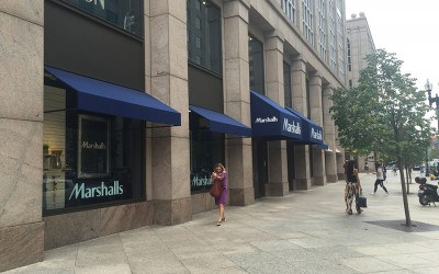 The Marshalls storefront on Boylston St.