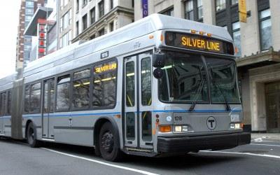 A Silver Line MBTA Bus