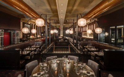 The main dining room at Boston Chops in Downtown Crossing