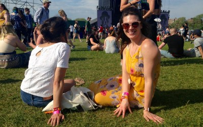 """Jessica Beyer, 31, of Cambridge says the most important thing to bring to a festival is """"Chapstick."""""""