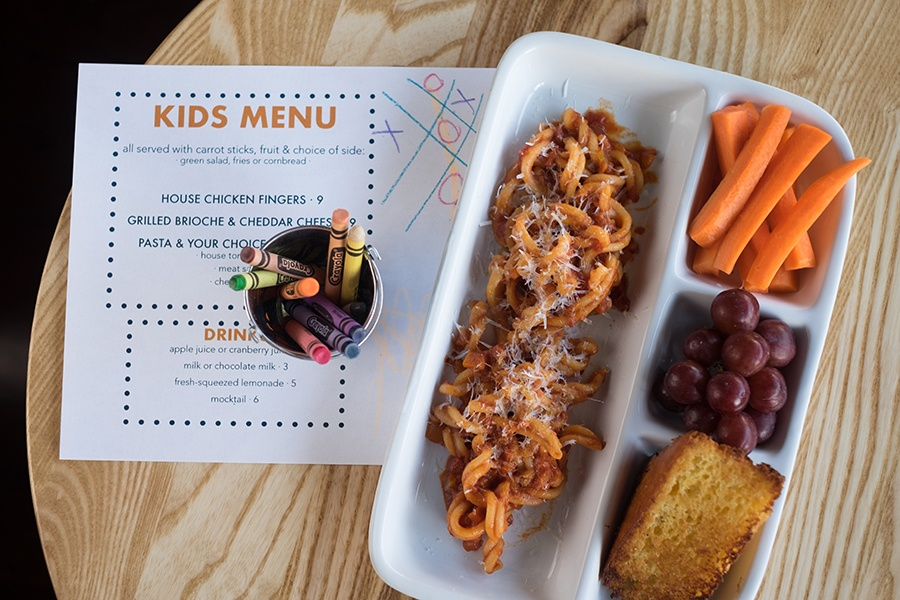 A kid's meal at Buttonwood restaurant in Newton
