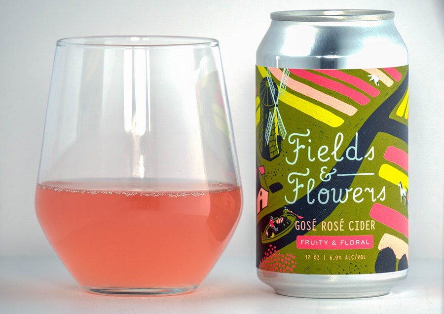 Graft rose cider Fields & Flowers gose cider
