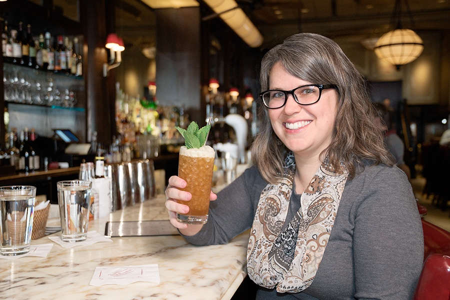 Boston magazine associate food editor Jackie Cain at Eastern Standard