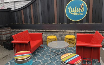 A new outdoor lounge area debuts May 1 at Lulu's Allston