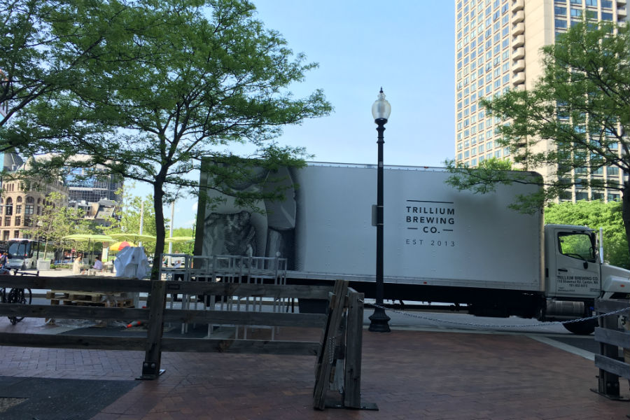 Beer has arrived at the Trillium Garden