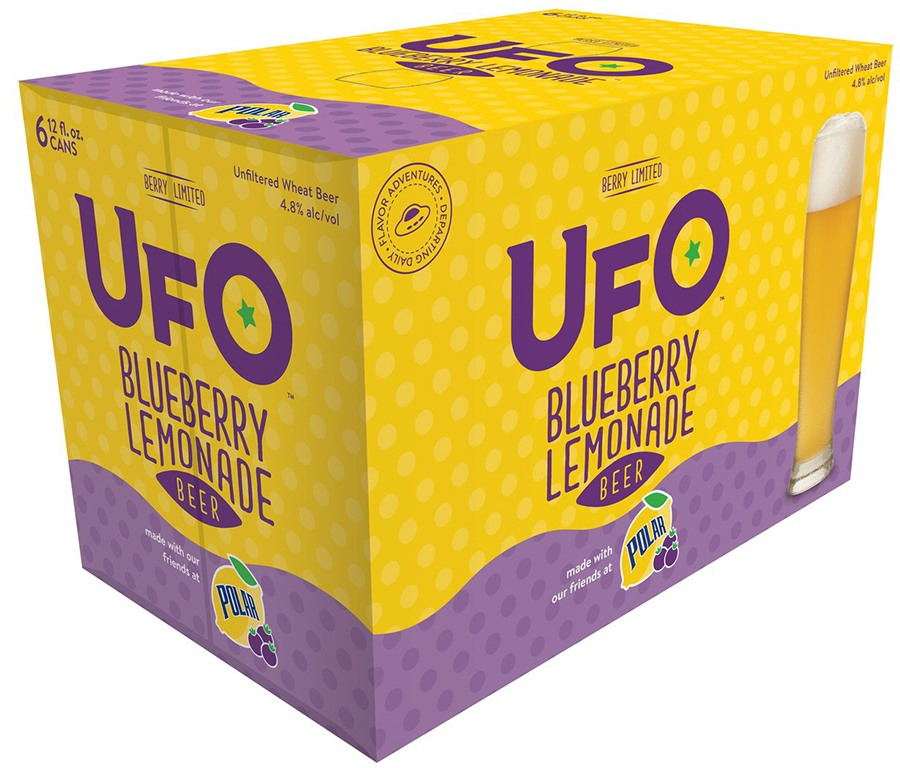 Limited-edition UFO Beer and Polar Seltzer blueberry lemon wheat beer