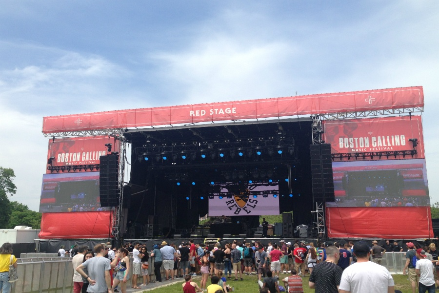 The Red Stage of Boston Calling