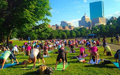 Boston Common yoga