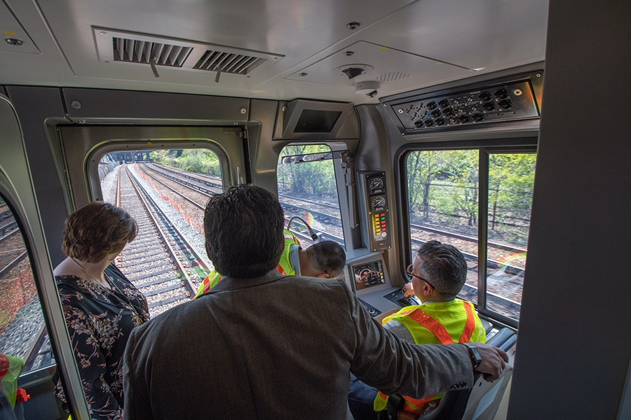 The view from the conductor's chair