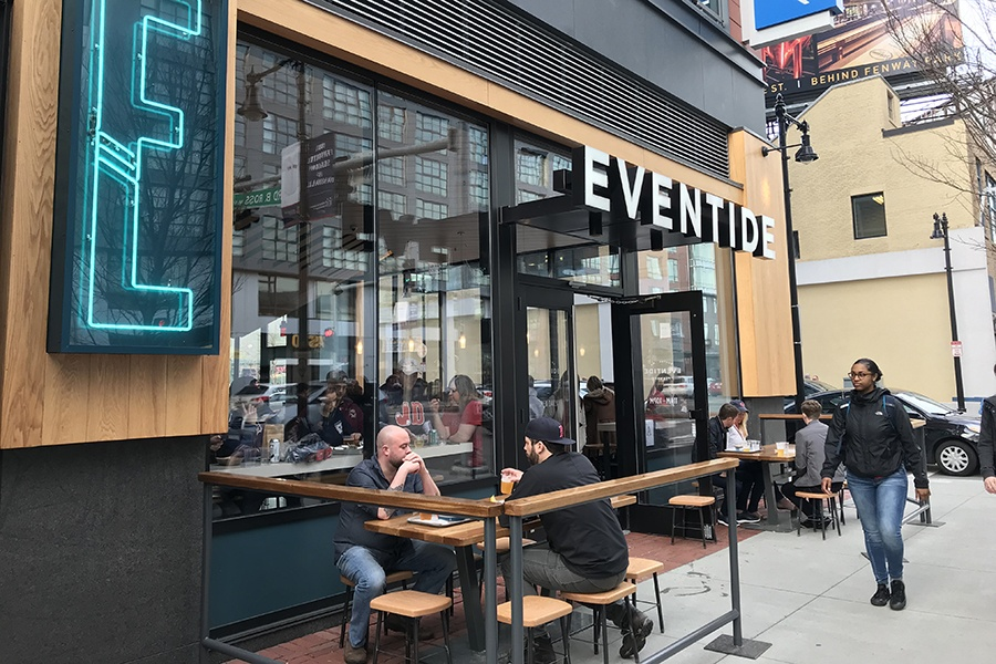 The patio at Eventide Fenway