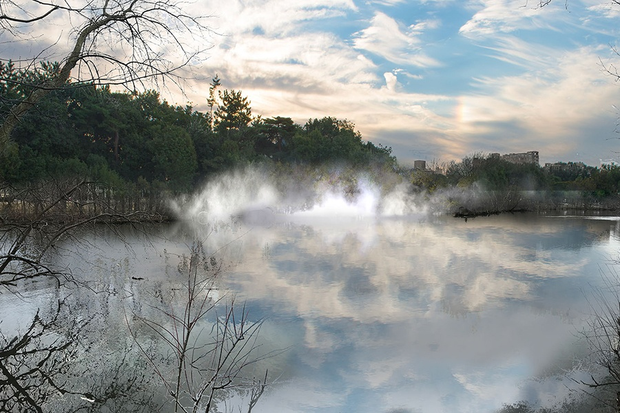 crazy cool fog sculptures are coming to the emerald necklace