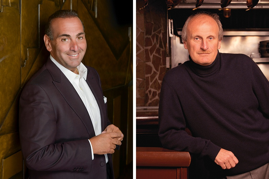 Nick Varano (L) and Frank DePasquale will open a Fratelli restaurant together at Encore Boston Harbor casino.