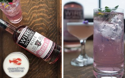 An original cocktail called Annette's Bikini, and a gin and tonic made with GrandTen Distilling's new Wire Works Rosé Gin