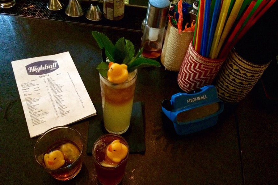 The Highball Lounge, known for games and playful drinks with rubber duck garnishes, will close.