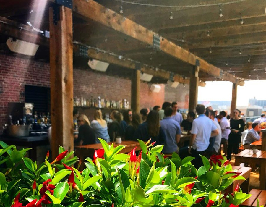 A new outdoor dining area and bar at Lolita overlooks the Fort Point Channel