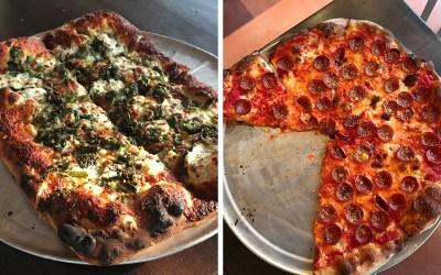 Rabottini's Pizza, rectangle or round pies