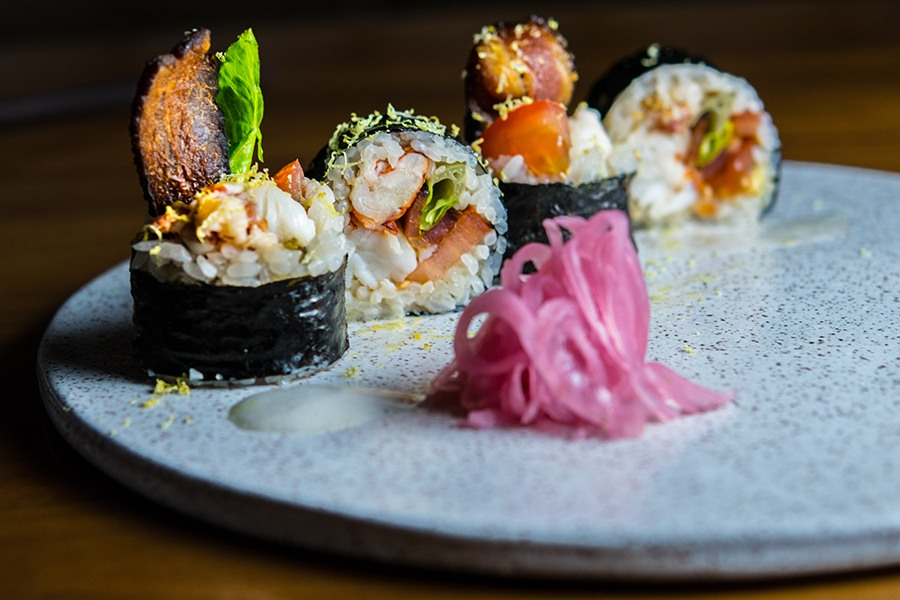 Uni's lobster BLT maki roll
