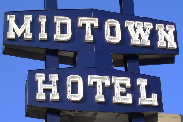 The old school Midtown Hotel sign