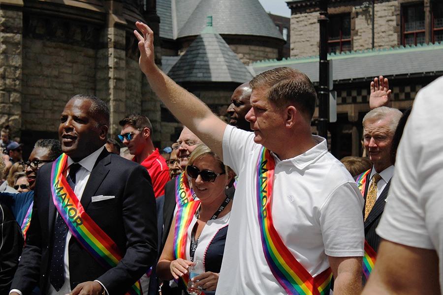 mayor marty walsh at boston pride parade