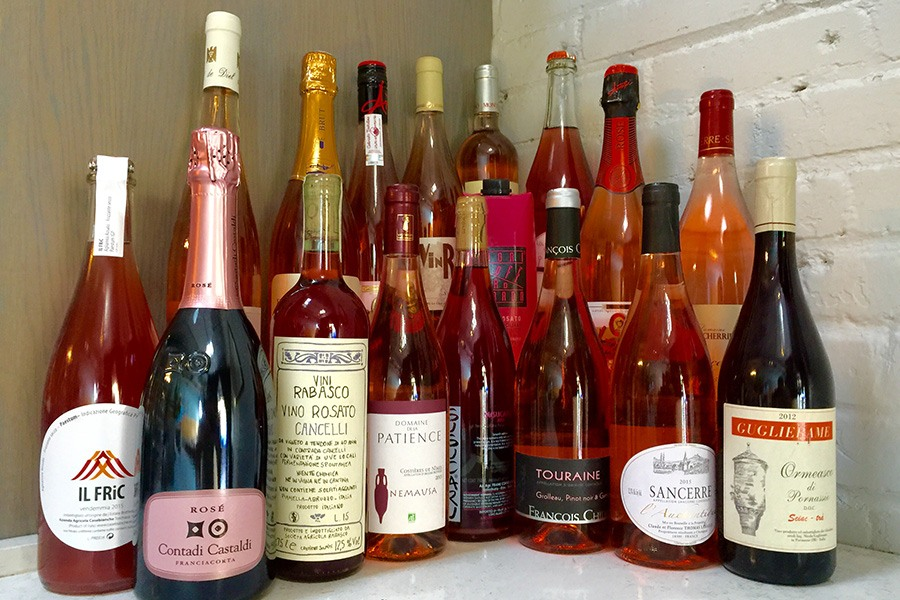 Rose wines at Puritan & Co.