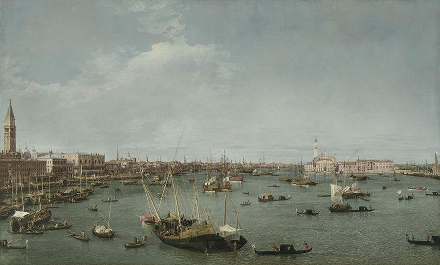 MFA Casanova's Europe Bacino di San Marco, Venice by Canaletto