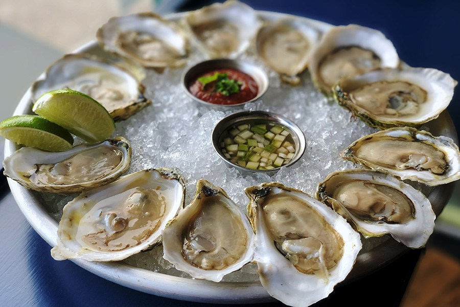 Oysters and more are on the new raw bar menu at Casa Verde